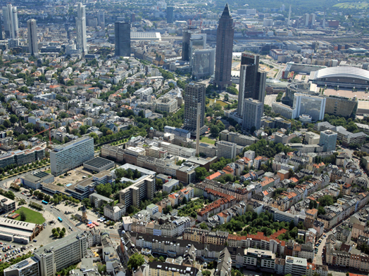 Northwestern view of the campus, © Stadtplanungsamt Stadt Frankfurt am Main