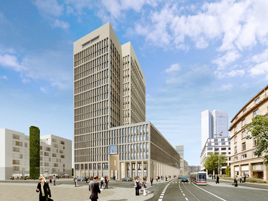 Rendering of the Porta high-rise, © Deutsche Immobilien Chancen (DIC)