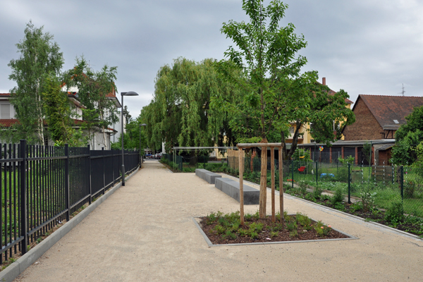 Pedestrian network after completion, © Stadtplanungsamt Stadt Frankfurt am Main