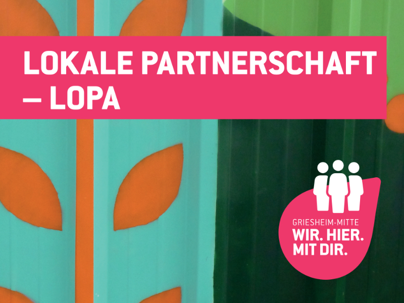 Central Griesheim Local Partnership ©City Planning Department of the City of Frankfurt/Main