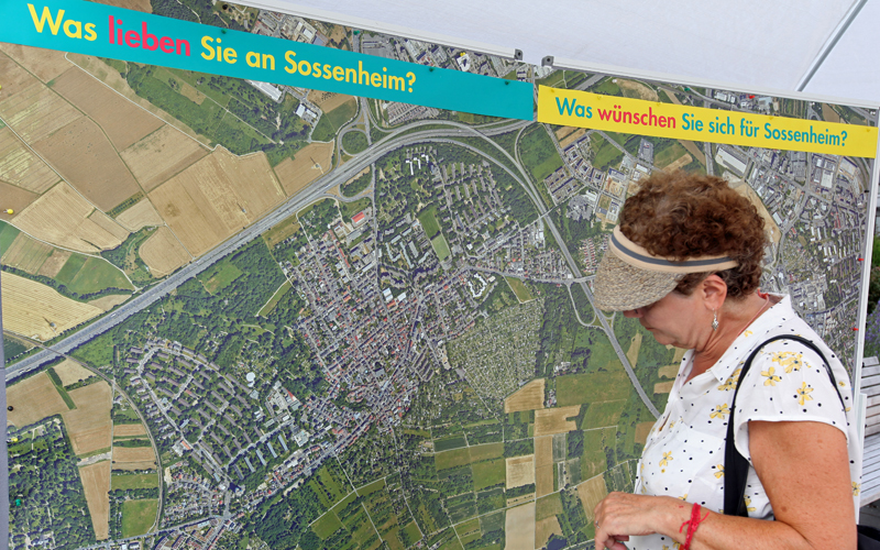 SOCIAL CITY Sossenheim information market on June 24, 2019, © Stadtberatung Dr. Sven Fries