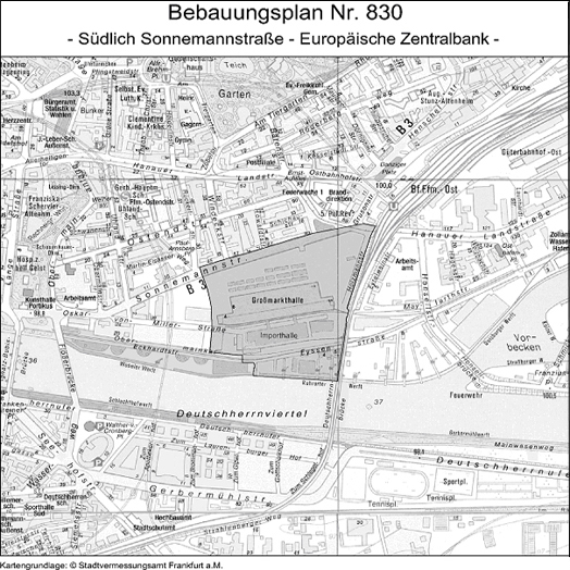 Area covered, © Stadtplanungsamt Stadt Frankfurt am Main