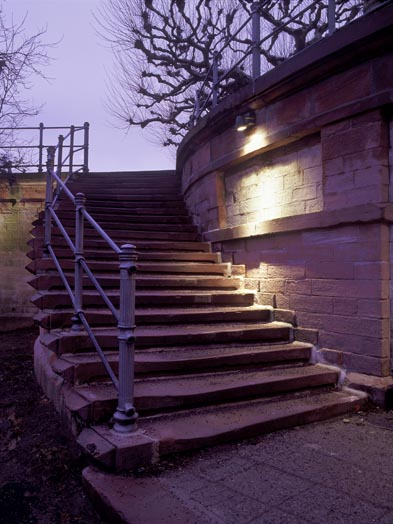 Stairway on the fortifications, © Stadtplanungsamt Stadt Frankfurt am Main